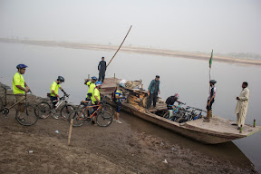 Passing the River Ravi on boat