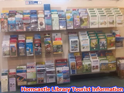 Leaflet display in Tourist Info section of library