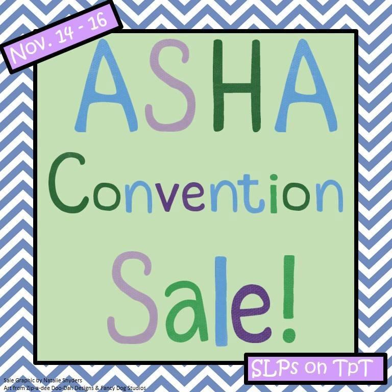 ASHA Convention TpT Sale 2013