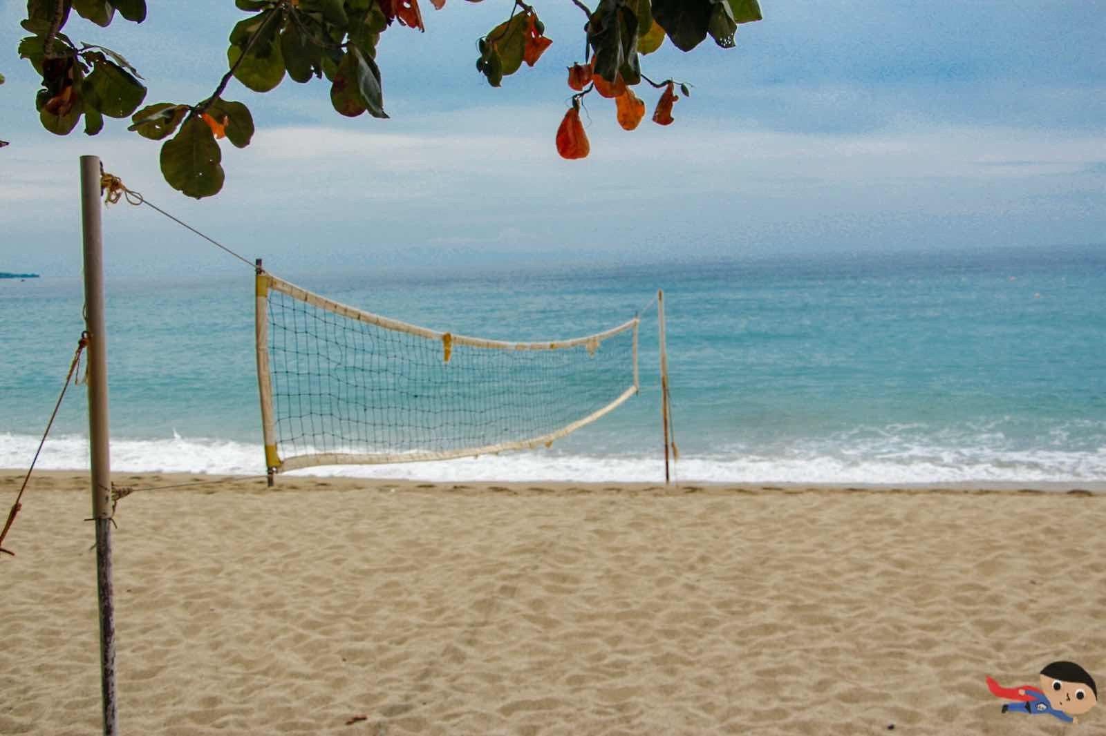 Beach volleyball in La Luz Resort, San Juan, Batangas