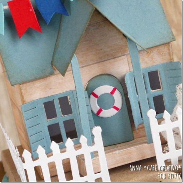 Creare una casetta con le fustelle Bigz Village Dwelling by Tim Holtz