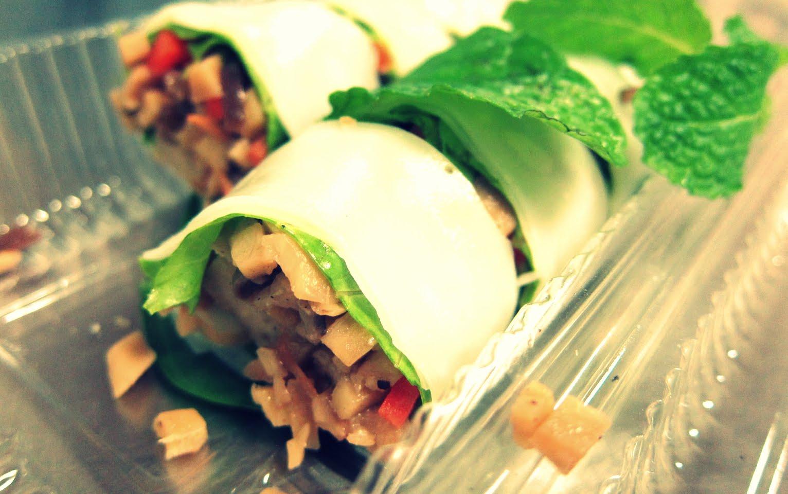 Delicious Thai spring rolls