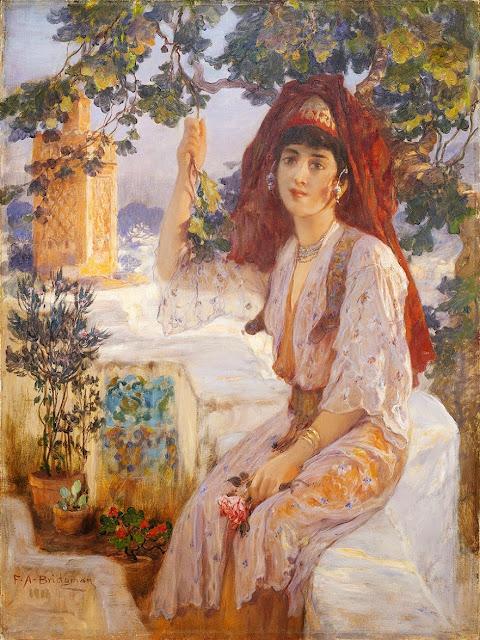 Frederick Arthur Bridgman - Young girl of Tlemcen, Algeria