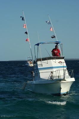 Fishing cruiser in Baja