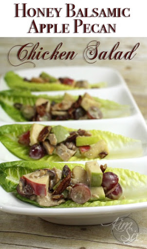 Honey Balsamic Apple Pecan Chicken Salad Wraps