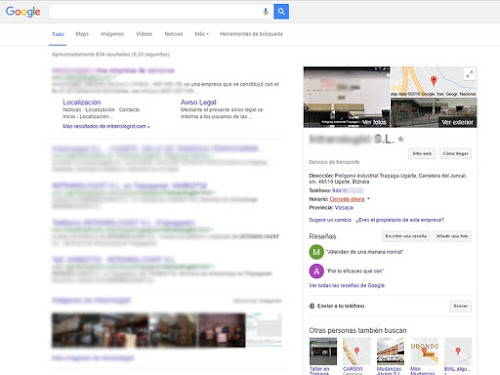 Control Ficha Google My Business