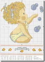 Punto de cruz bebé, dibujos bebe para canastilla