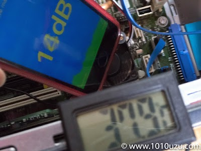 シリコンゴムワッシャーあり:14dB 37.9℃