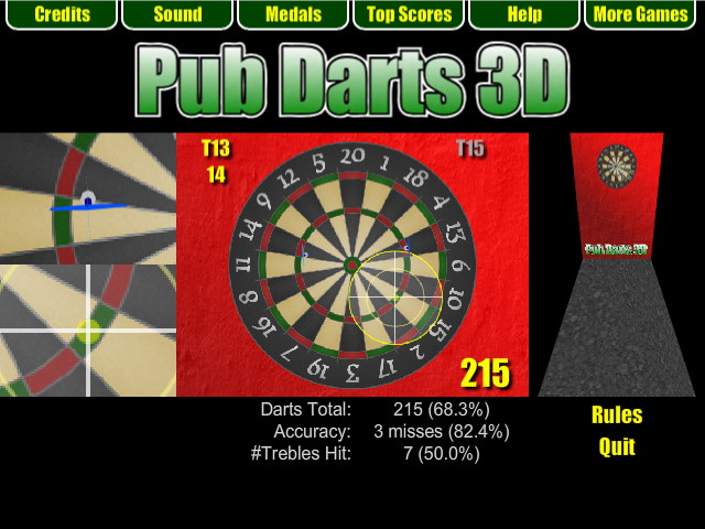 Pub Darts 3D - Around the Clock Challenge