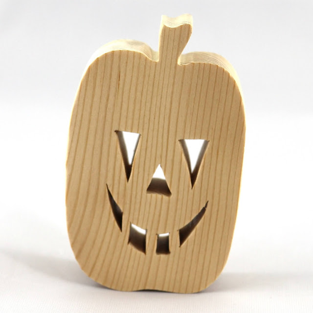 Handmade Wood Halloween Jack-o-Lantern - Pumpkin - Cutout Blank