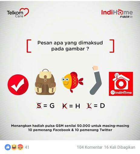 Mencari Jawaban Kuis Telkom Care