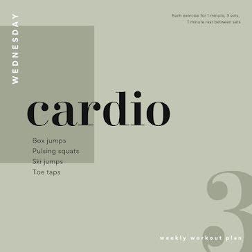 Wednesday Cardio - Instagram Post template
