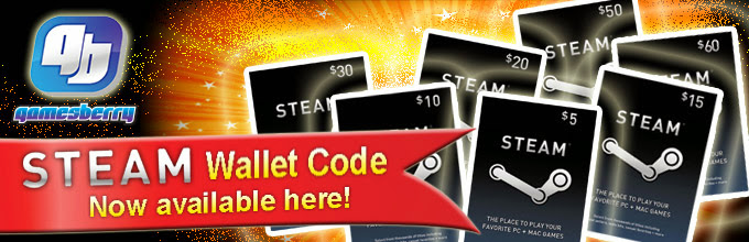 STEAM Wallet Code now available in Gamesberry !