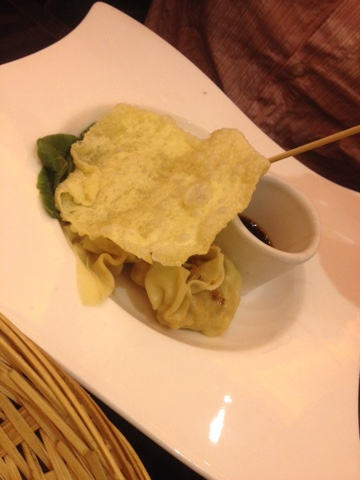 Steamed dumplings at Chaophraya restaurant, Birmingham
