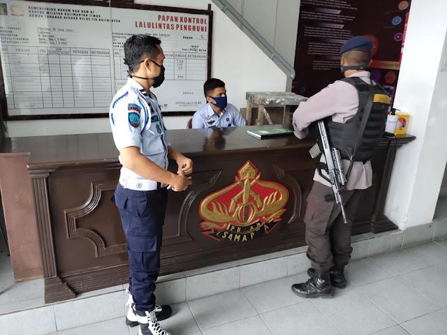 Patroli Rutin Yang Dilaksanakan Oleh Detasemen Gegana Di Rutan Kelas IIB Balikpapan
