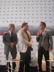 """Conferenza Stampa """"Reason Wine"""", 4 settembre 2011 - Lido di Venezia, Claudio Galletti, Michele Socci e Beppe Fiorello"""