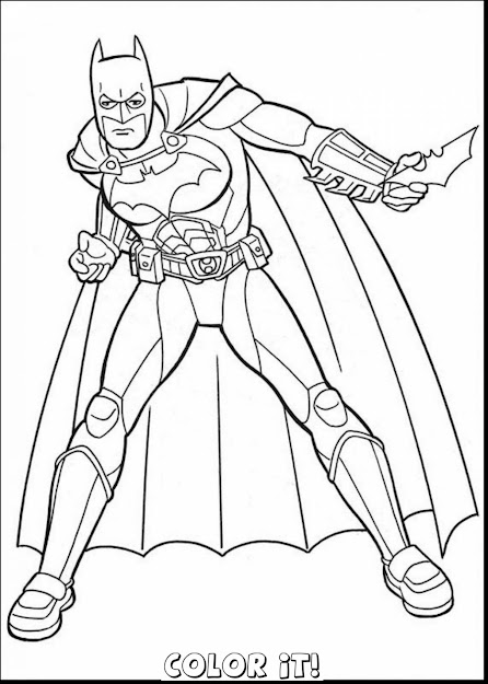 Free Batman And Robin Coloring Pages Printable
