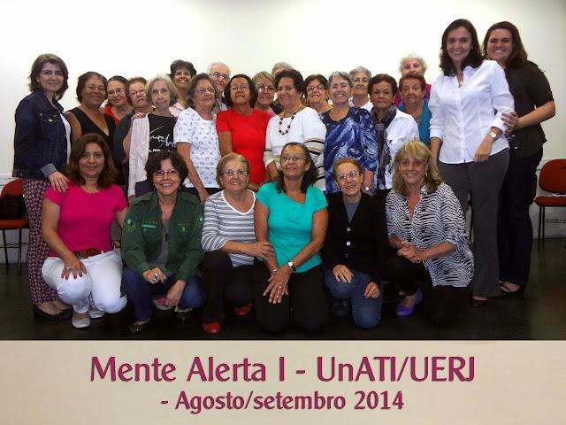 Mente Alerta 1 - UnATI/UERJ - Agosto/setembro 2014