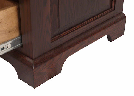 Hudson Dresser in Frontier Oak, Base Detail Closeup