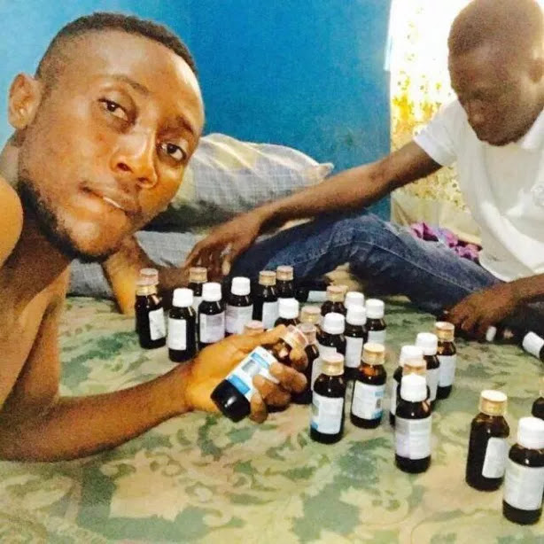 After Fasting For 30 Days, Nigerian Men Celebrate Sallah With Numerous Bottles Of Codeine