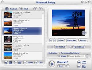 Download Watermark Factory 2.58 Full Crack - Phần mềm đóng dấu ảnh