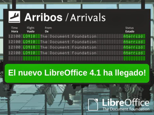 Sin tregua: disponible LibreOffice 4.1
