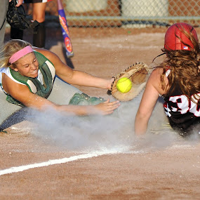 Play At The Plate by Tom Vogt - Sports & Fitness Baseball (  )