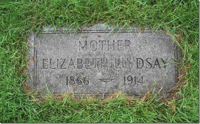 LINDSAY_Elizabeth nee FITZCHARLES_headstone_1866-1914_GrandLawnCem_DetroitWayneMichigan