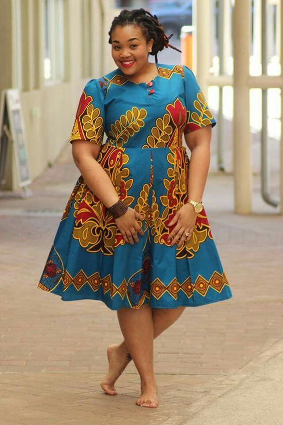 African dress styles for women with big stomach centre