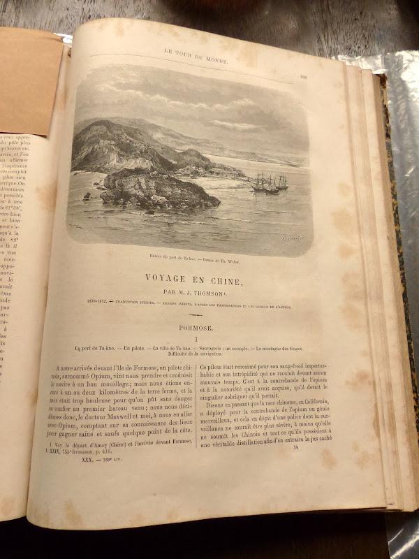 Rencontré deux chineurs qui m ont présenté ce livre de 1886 en français