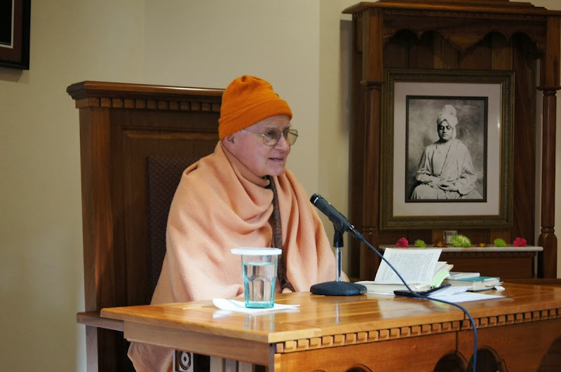 Swami Vedananda leads retreat on December 7