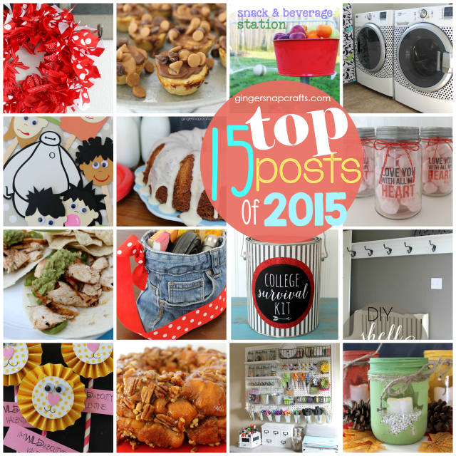 Top 15 Posts of 2015 at GingerSnapCrafts.com