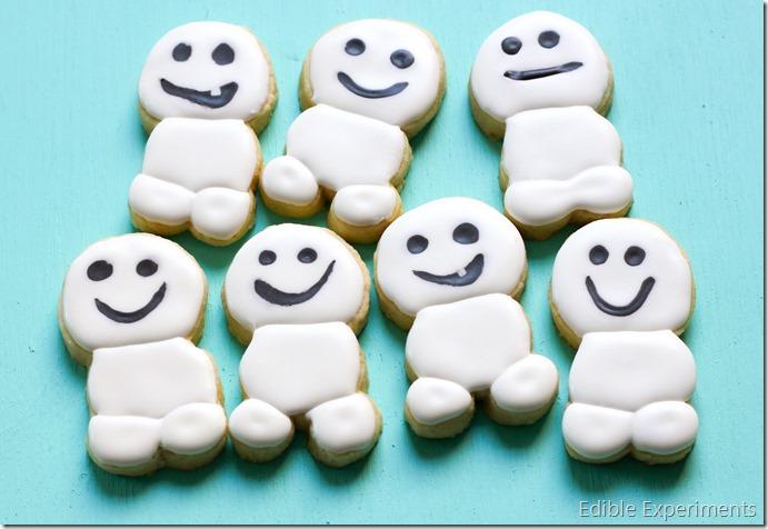 Frozen Fever Sugar Cookies - Snowgies