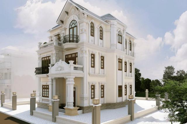 Mẫu thiết kế biệt thự mái thái tại Hải Phòng