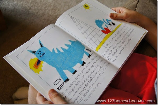 kid made book is perfect for kids to practice their writing and story telling
