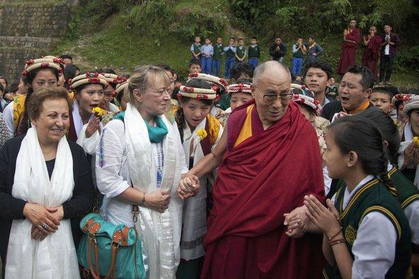 His Holiness the 14th Dalai Lama in Dharmsala, India. Photo by Ashwini Bhatia.