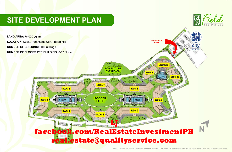 SMDC Field Residences Site Development Plan