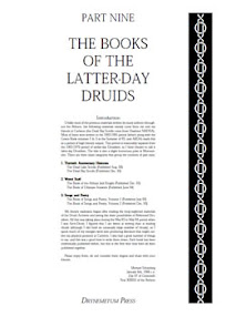 Cover of Reformed Druids's Book Anthology 09 The Books of the Latter Day Druids