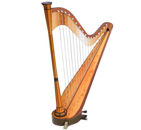 Harp Papercraft