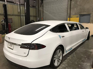 Tesla Model S Limousine Conversion by Big Limos
