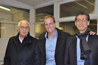 AG ASM avec Jérémie Azou. Frédéric Andolfi, Jérémie Azou et Patrick Chérencey.