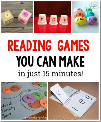 Simple to Make Reading Games for Kids
