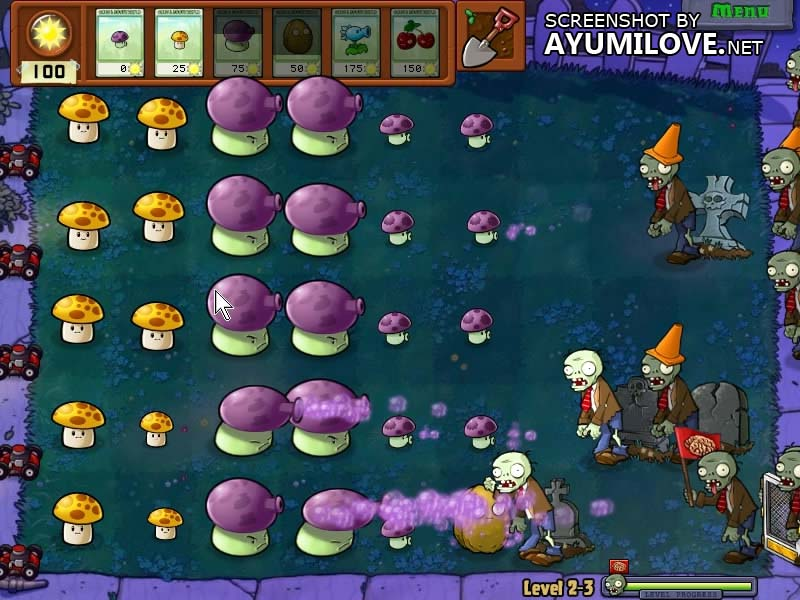 Plants vs Zombies Stage 2-3 Layout
