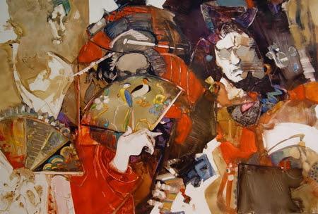 Of Kimonos and Kabuki. Artist Carla O'Connor, AWS-df/NWS