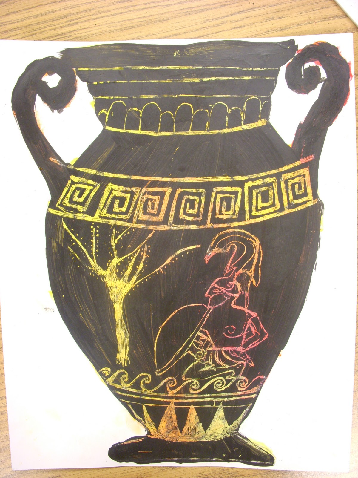 Artastic Miss Oetken S Artists Going Greek Scratch Into History With Greek Vases Pots