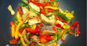 Recetas f ciles para cocinar con wok wok de alcachofas y for Cocinar con wok