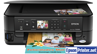 How to reset flashing lights for Epson TX560WD printer