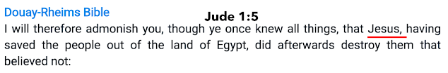 DRB Jude 1:5.