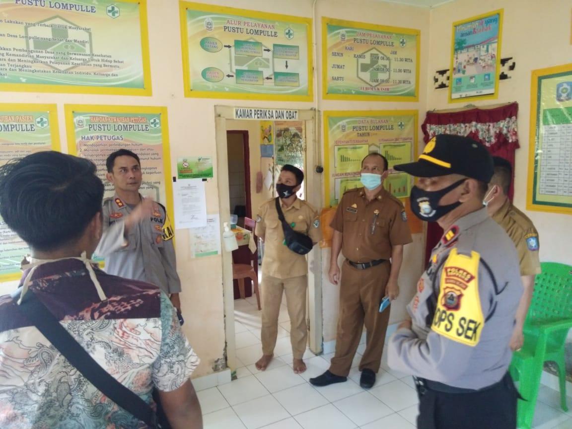 Jelang Launching Kampung  Balla Ewako Sitaroang Deceng Kapolres Soppeng Kunjungi Desa Lompulle
