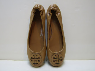 Tory Burch Light Brown Ballet Flats